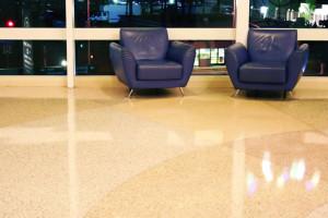 polished terrazzo floor