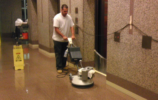Granite Lobby Floor Monthly Maintenance