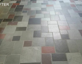 Flagstone Floor Stripped and Cleaned