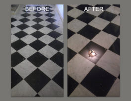 Uneven Marble Tiles Leveled