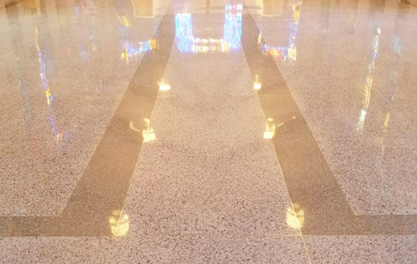 3000 Sq. Ft. of Terrazzo Refinished
